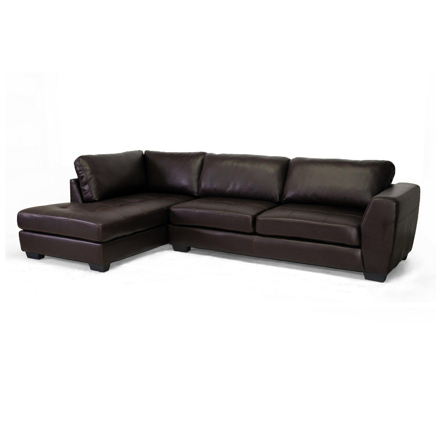 baxton studio dobson leather modern sectional sofa broyhill furniture 15 collection of braxton ideas