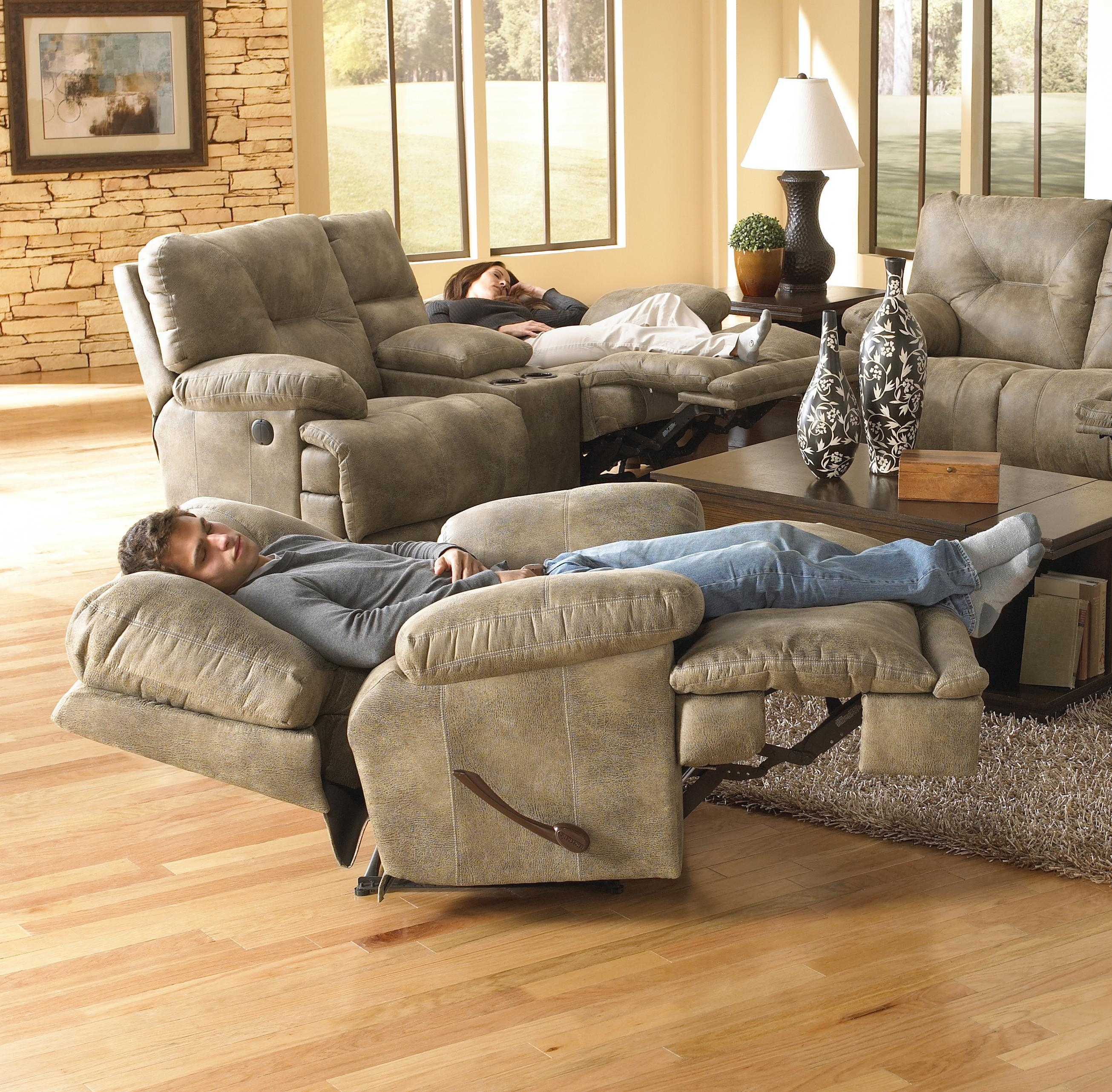 voyager lay flat triple reclining sofa modern leather singapore 20 photos catnapper sofas ideas