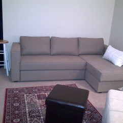 Manstad Corner Sofa Bed With Storage Grey Fabric Recliner 20 Ideas Of Ikea