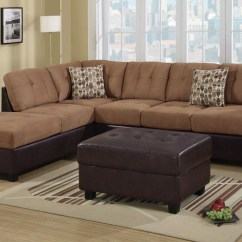 Buchannan Faux Leather Sectional Sofa With Reversible Chaise Chestnut Harris Tweed Sofas Black Reclining