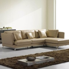 Lusso Horizon Modern Grey Fabric Leather Sectional Sofa Yardage For 15 Collection Of High End Ideas