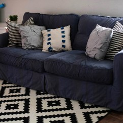 Navy Sofa Cover Convertible Bed With Storage India 20 Inspirations Blue Slipcovers Ideas