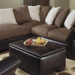 Microfiber Living Room Furniture Sets Design For Studio Apartment 20 Collection Of Leather And Suede Sectional   Sofa Ideas