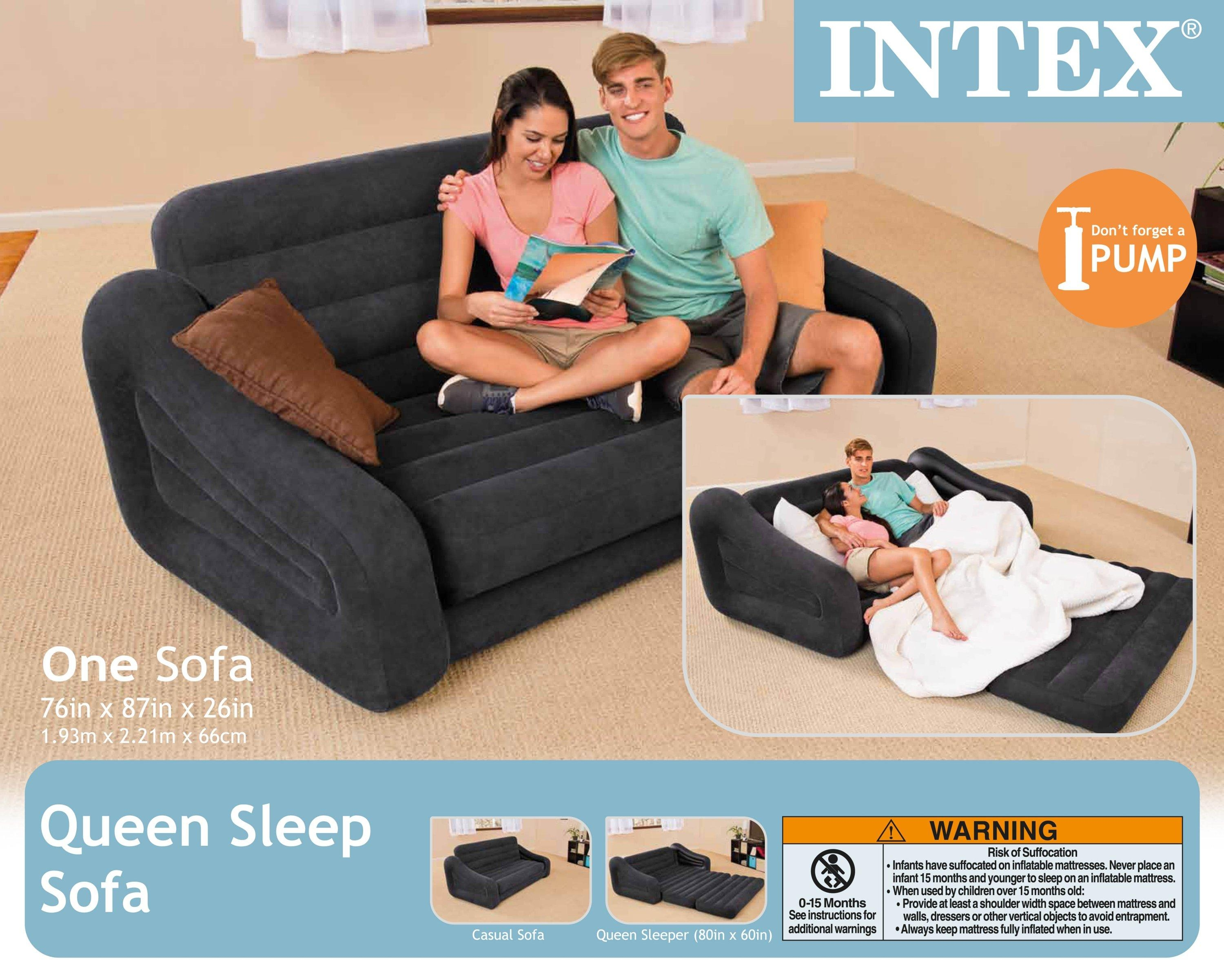 intex pull out sofa review sleeper sectional 20 best collection of inflatable beds mattress