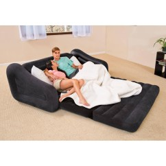 Intex Inflatable Pull Out Sofa And Queen Air Mattress Fabric Sofas Uk 20 Photos Ideas