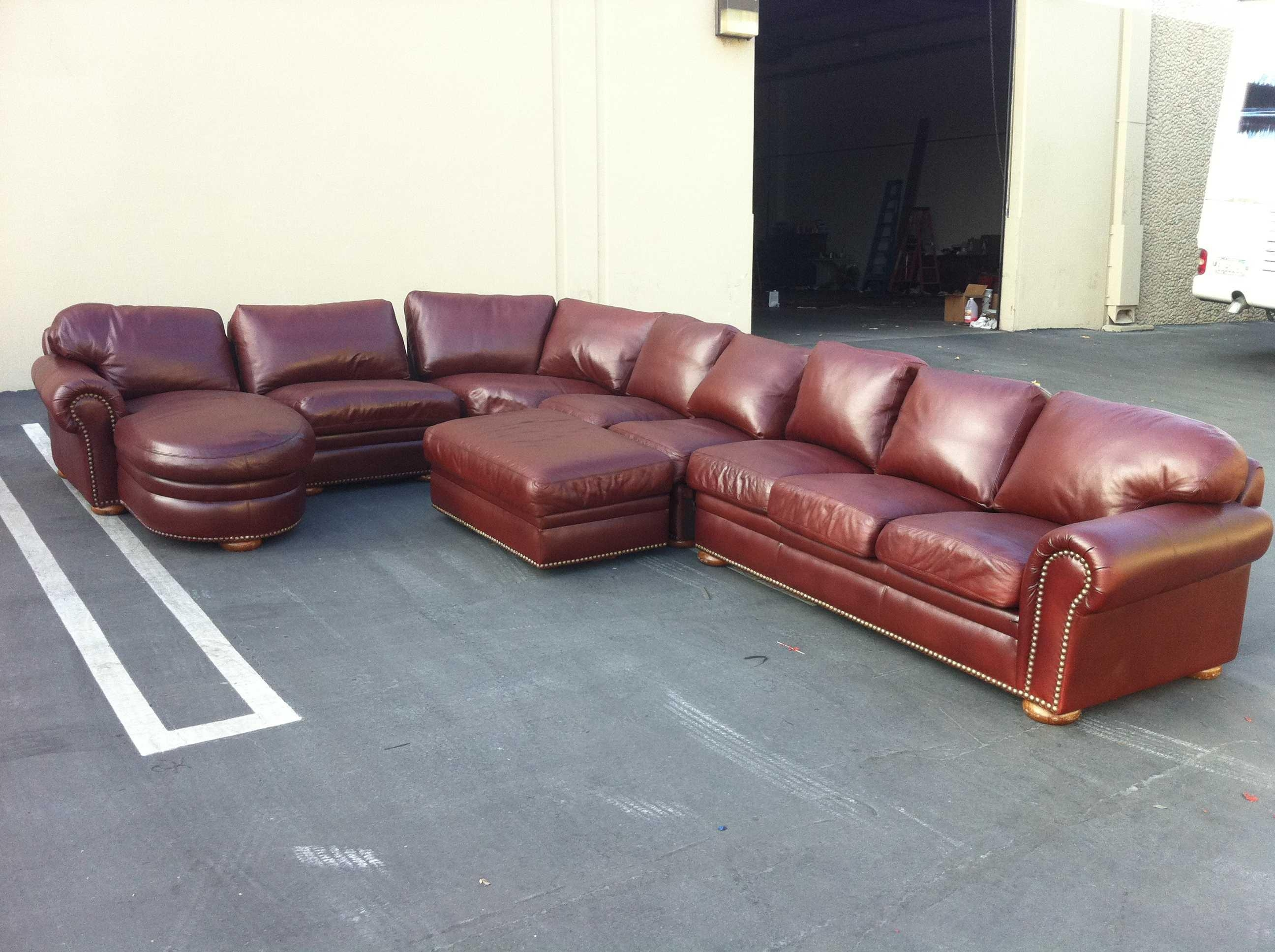 sofa half leather vine fabric 20 best ideas large sectional
