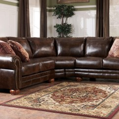 Leather And Fabric Sofa In Same Room Brown Corduroy Set 20 Collection Of Ashley Faux Sectional Sofas