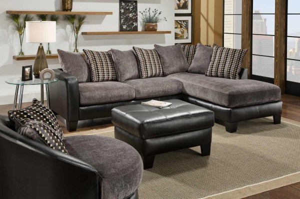 Collection Of Leather And Suede Sectional Sofa Ideas