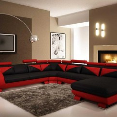 Black And Red Sectional Sofa Best Cushions Filling 20 Photos Ideas