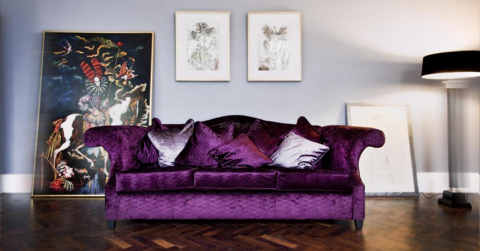 purple sofas recliner sofa sets online india 20 inspirations velvet ideas
