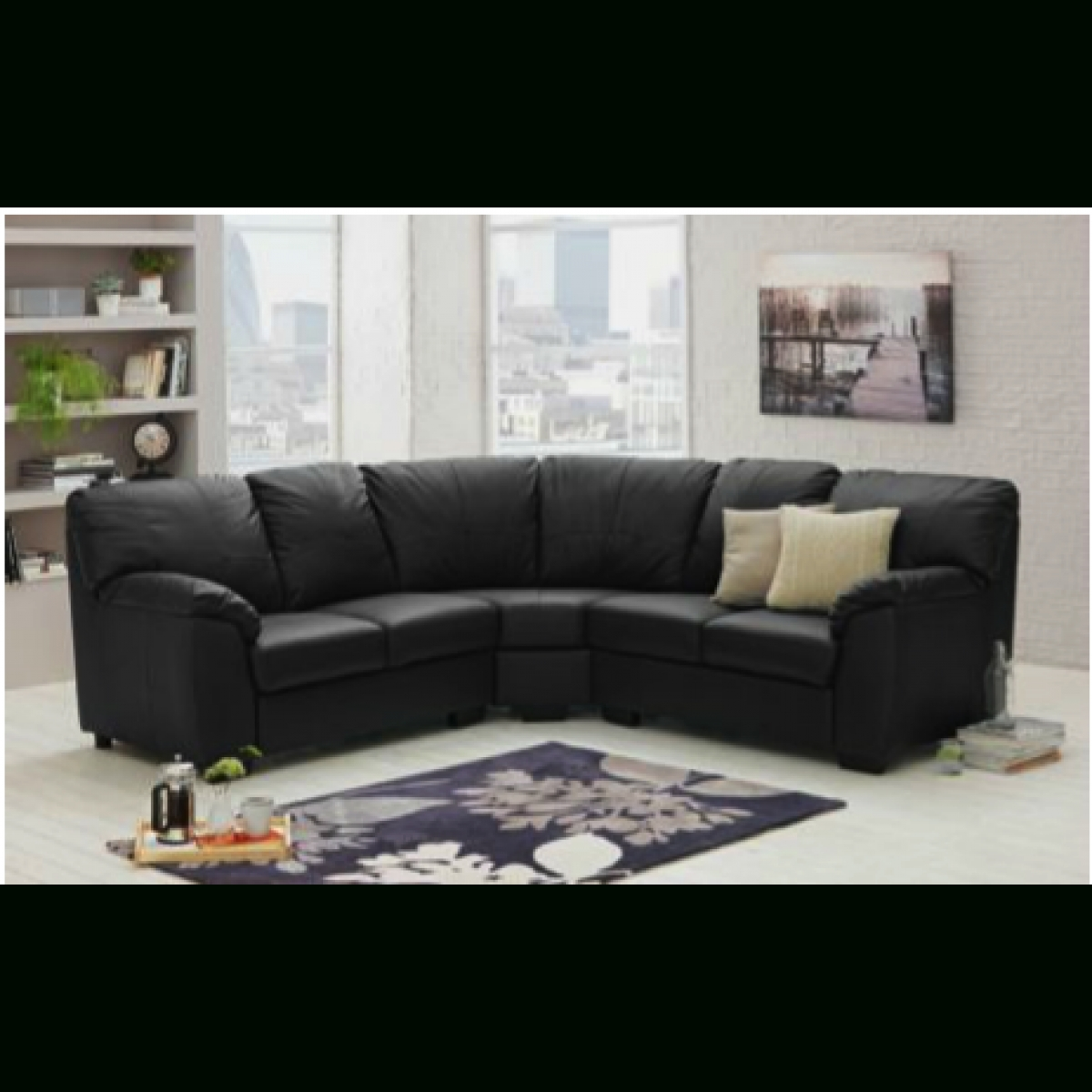 white leather sofa furniture village double recliner uk 20 43 choices of black corner sofas ideas
