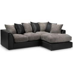 Nova Black And White Leather Corner Sofa Right Hand Palliser Construction 20 43 Choices Of Sofas Ideas