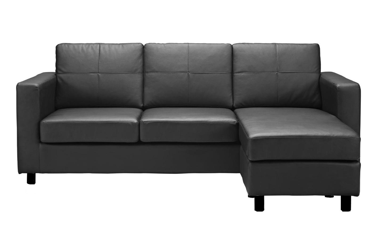 modern bonded leather sectional sofa with recliners contemporary table drawers 20 inspirations sofas for small spaces