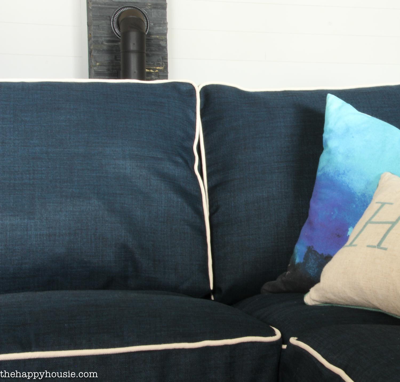 navy sofa cover italian leather sofas ebay 20 inspirations blue slipcovers ideas