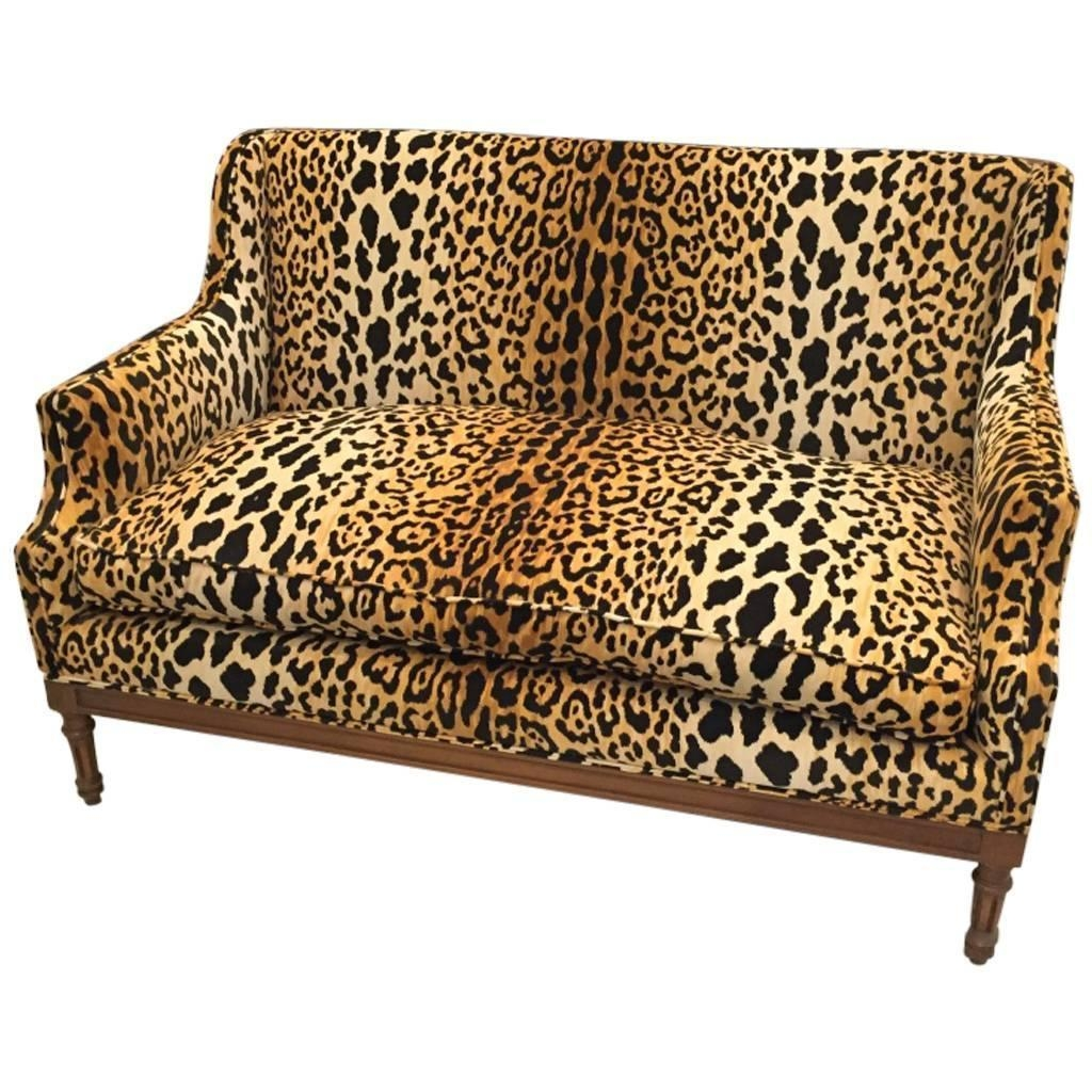 leopard print sofa appears sectional recliner 20 photos animal sofas ideas