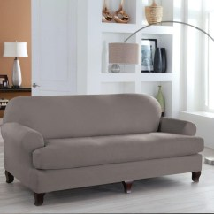 Two Cushion Sofa Slipcover Lazy Boy Leather Motion 20 Best Collection Of T Slipcovers For Large Sofas