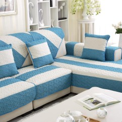 How Much Fabric To Cover A Sectional Sofa Espresso Leather 20 Inspirations Blue Slipcover Sofas   Ideas