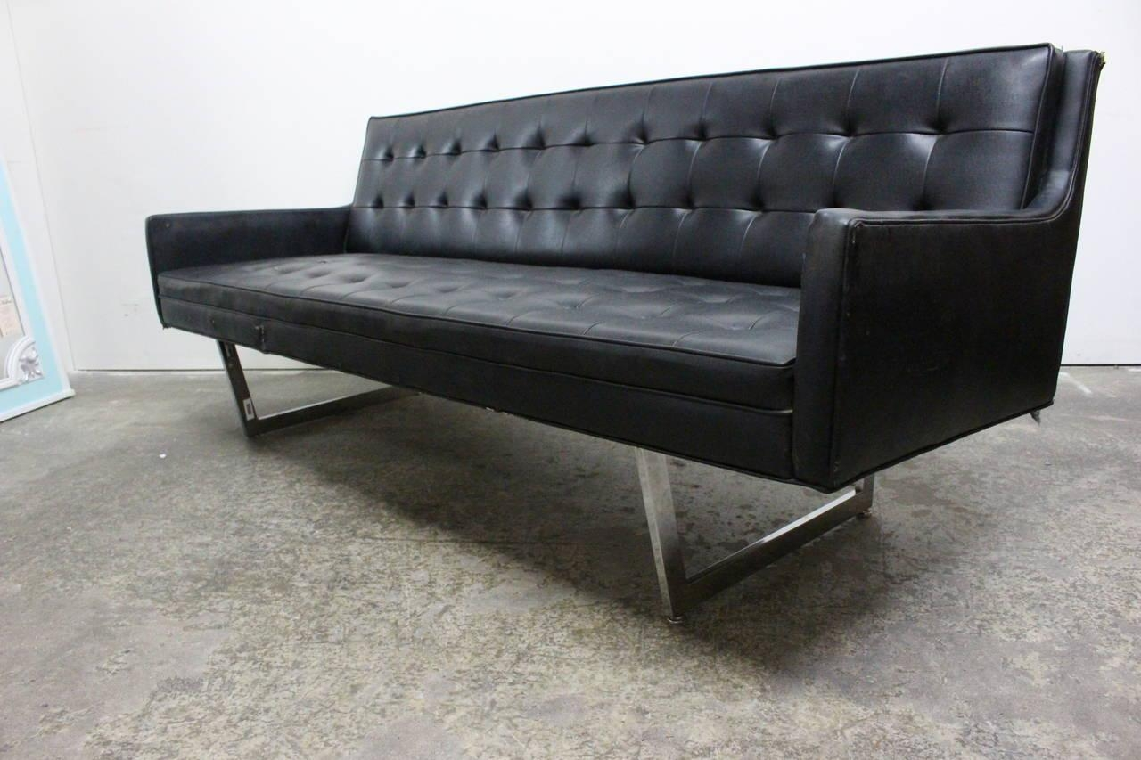 black vinyl futon sofa grey wall color 20 best ideas sofas