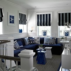 Navy Blue Striped Sofa Brown Leather And Fabric Sectional 20 Top White Sofas Ideas
