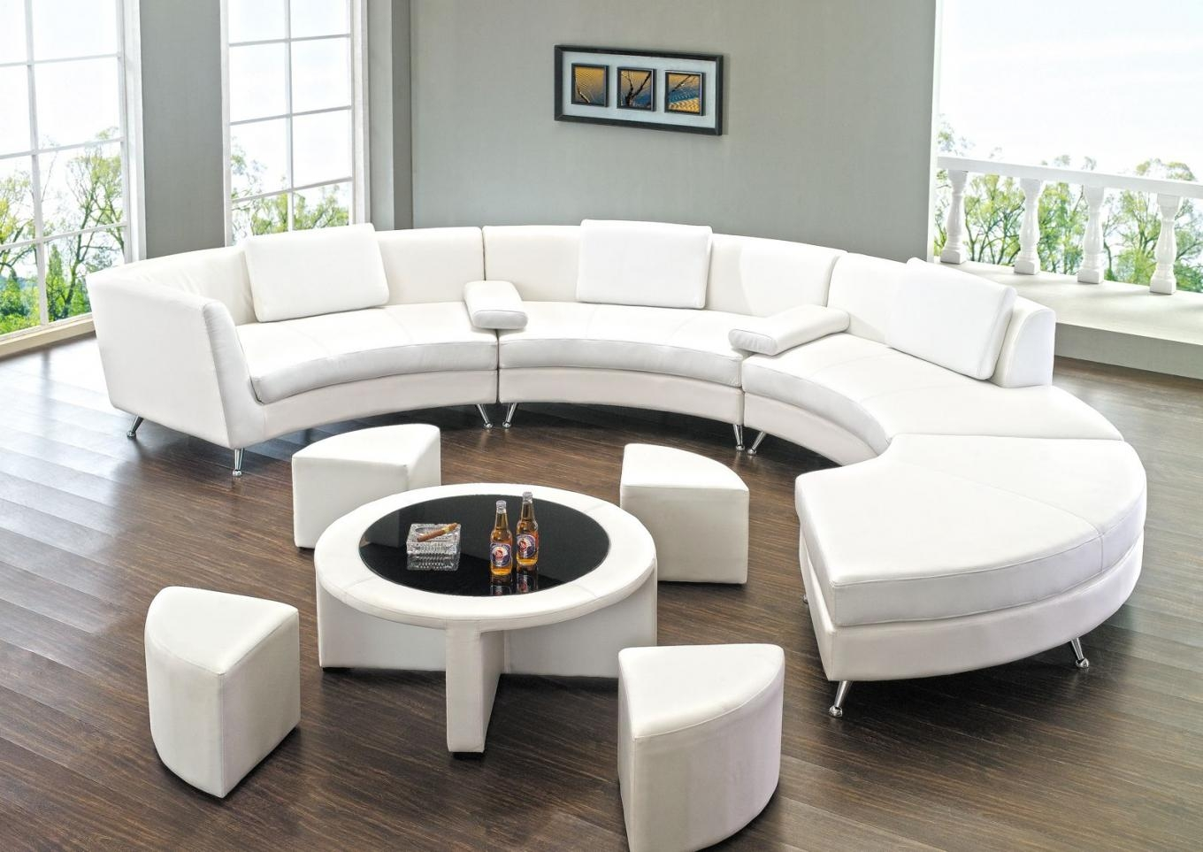 rounded sofa bed nailhead trim reclining 20 collection of round sectional ideas