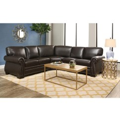 Abbyson Living Berkshire Italian Leather Sectional Sofa Muji Unit Review 20 Best Ideas Sofas