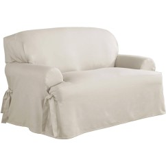 Chair Slipcover T Cushion Round Wooden Kitchen Table And Chairs 20 Top Loveseat Slipcovers Sofa Ideas
