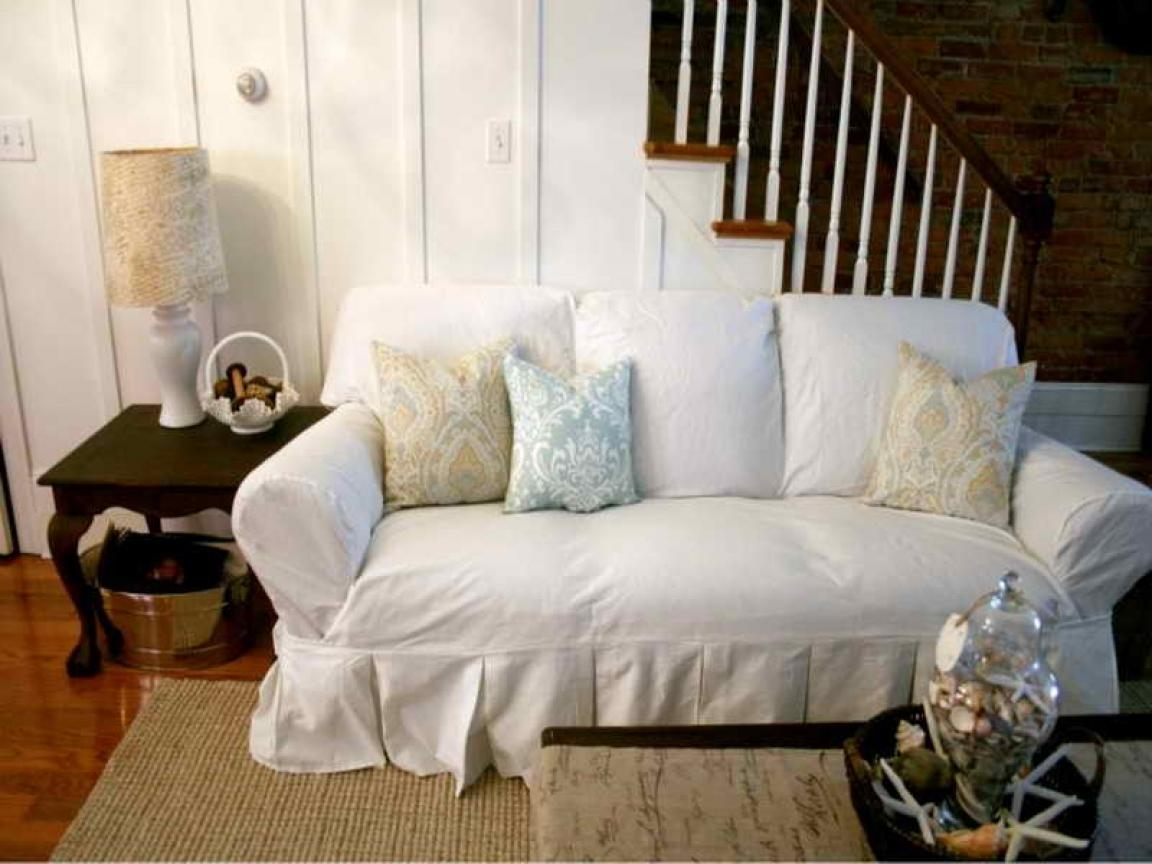 White Dining Chair Slipcovers 20 Top Shabby Chic Sofa Slipcovers Sofa Ideas