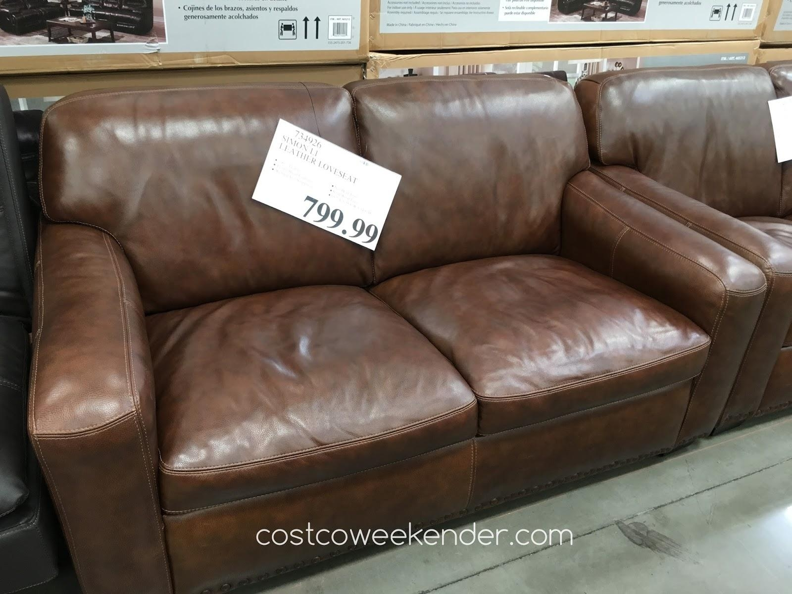 simon li leather sofa costco review grey living room ideas with black furniture mathis brothers thesofa