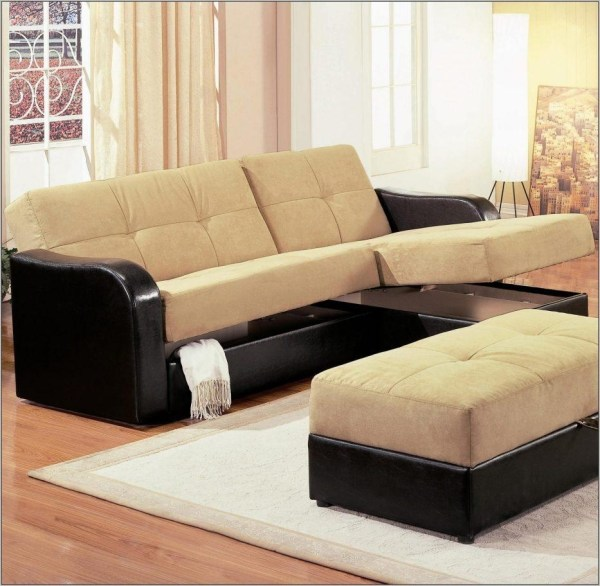 Sectional Sleeper Sofa with Storage