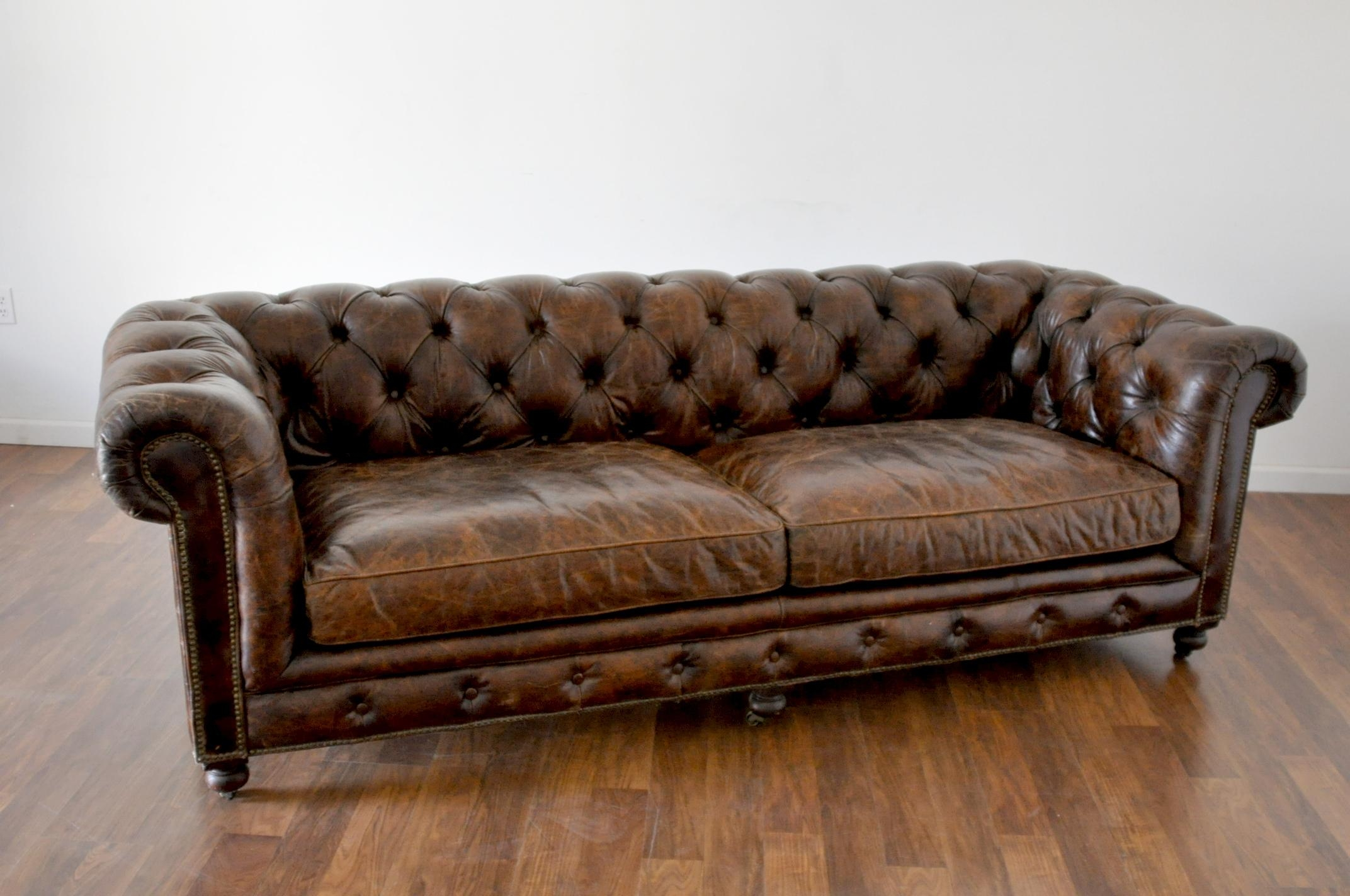 tufted brown leather sofa small sleeper 2018 latest sofas ideas