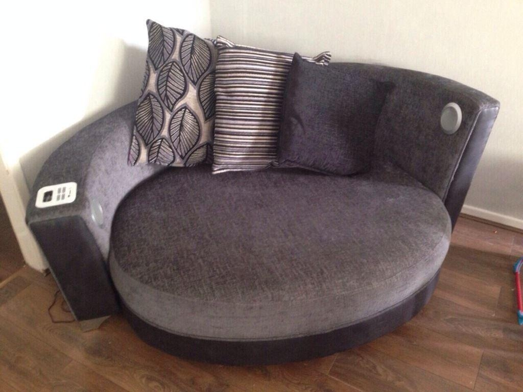 snuggle sofa and swivel chair retro brown leather with cuddle brokeasshome