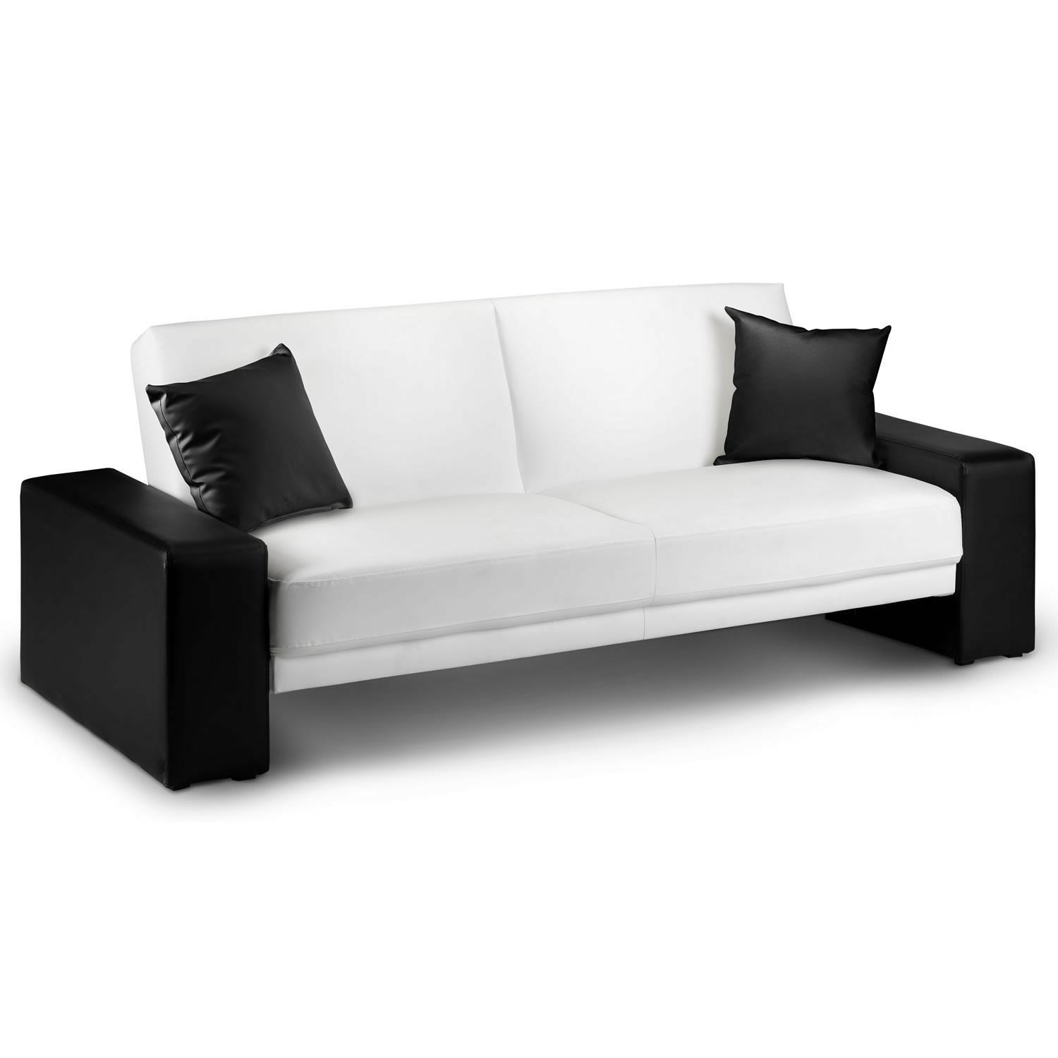 black and white leather sofa bed queen mattress replacement 20 photos sofas ideas