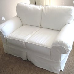 Luxe 2 Seat Sofa Slipcover Simple Living Seneca Table 20 Ideas Of Canvas Slipcovers