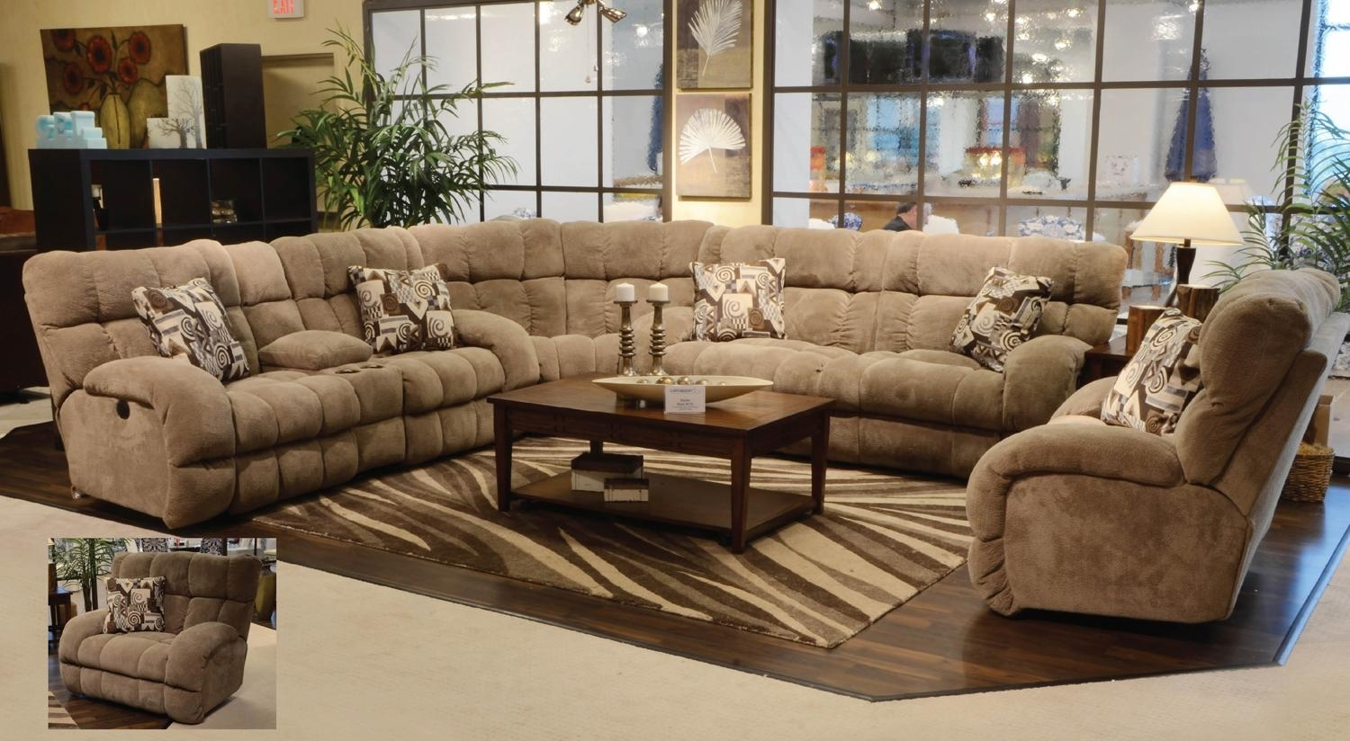 Sectional Couch Large Ottoman