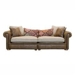 Leather Sofa With Fabric Seat Cushions Corner Sectional Piece 20 Best Ideas And Cloth
