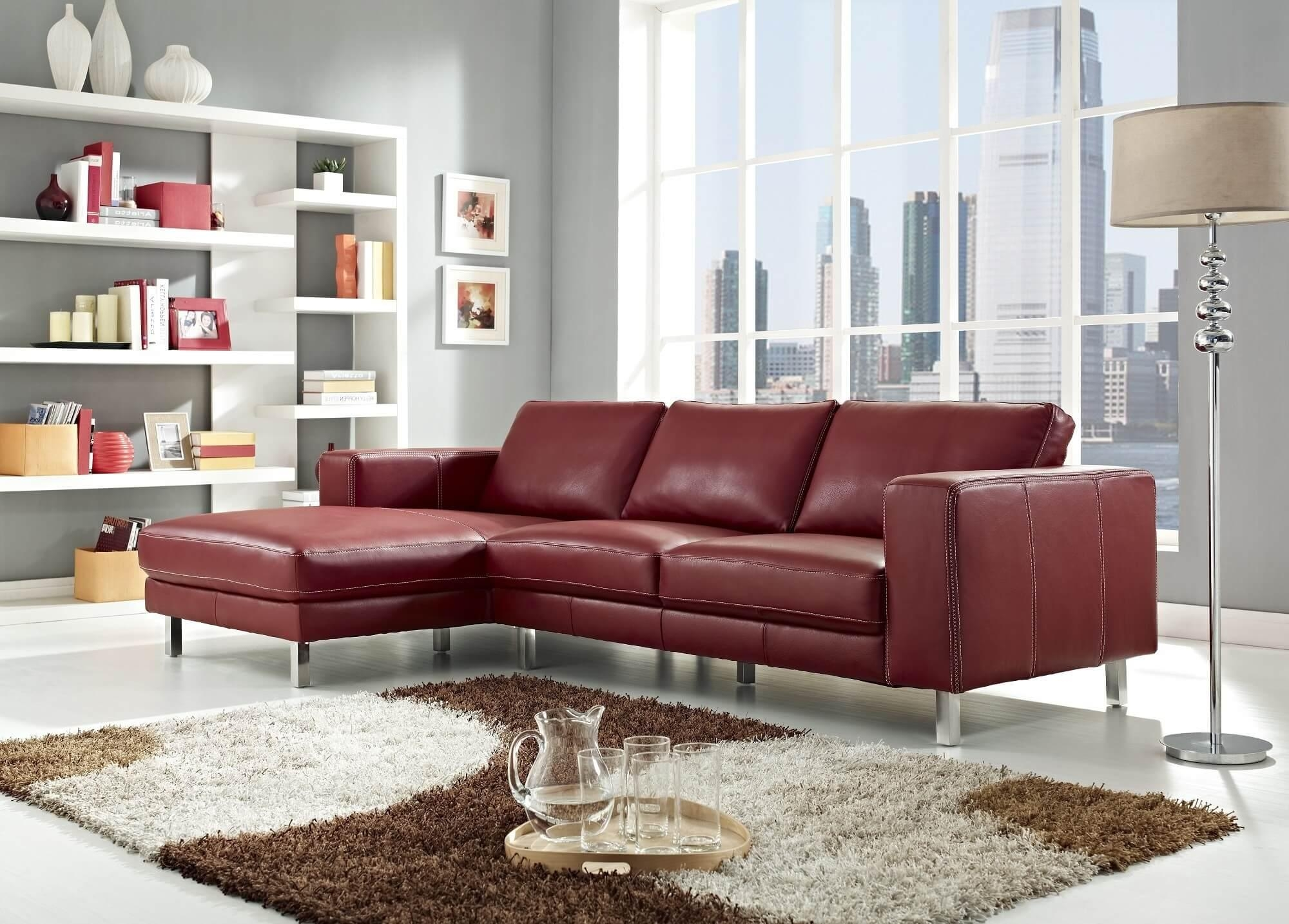 red sofas on sale floral and chairs 20 photos dark leather sofa ideas