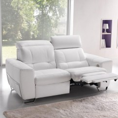 Modena 2 Seater Reclining Leather Sofa 7 Legs 20 Ideas Of Recliner Sofas