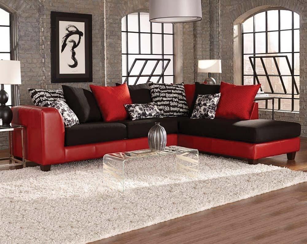 20 Photos Red Black Sectional Sofa  Sofa Ideas