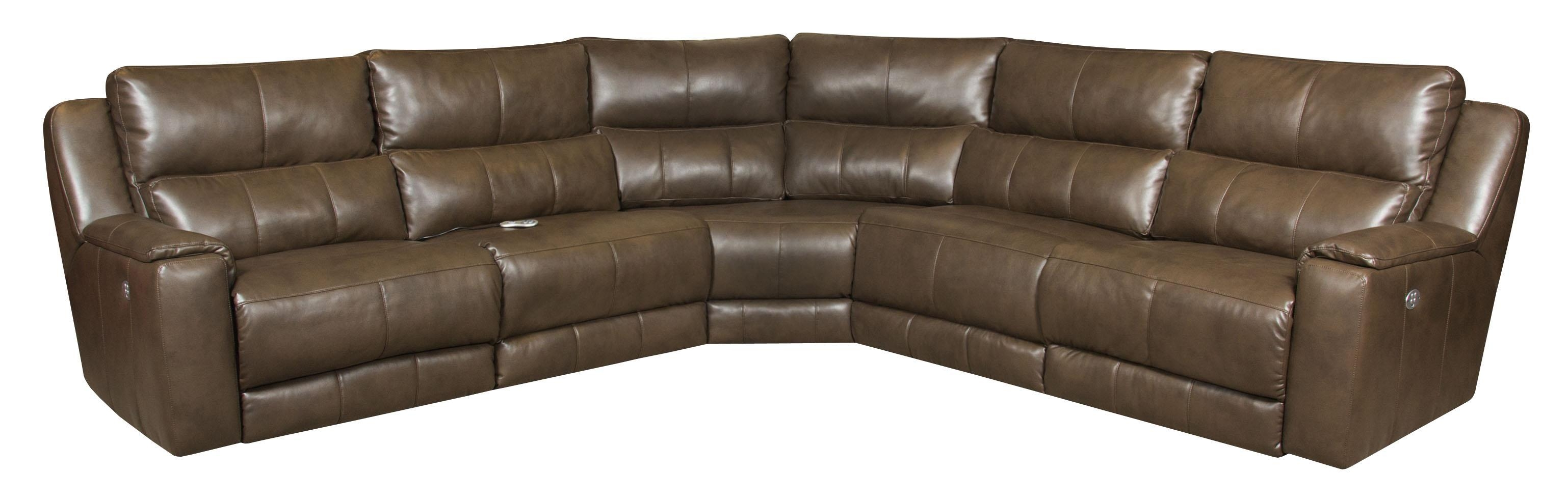 caruso leather 5 piece power motion sectional sofa how tall should a table lamp be 20 top ideas