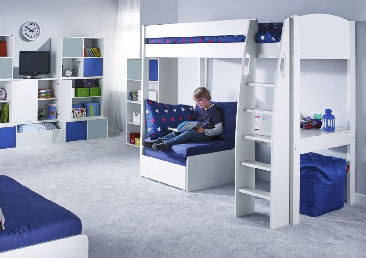 bunk beds with sofa bed underneath argos cushion stuffing material high sleeper desk and likable white