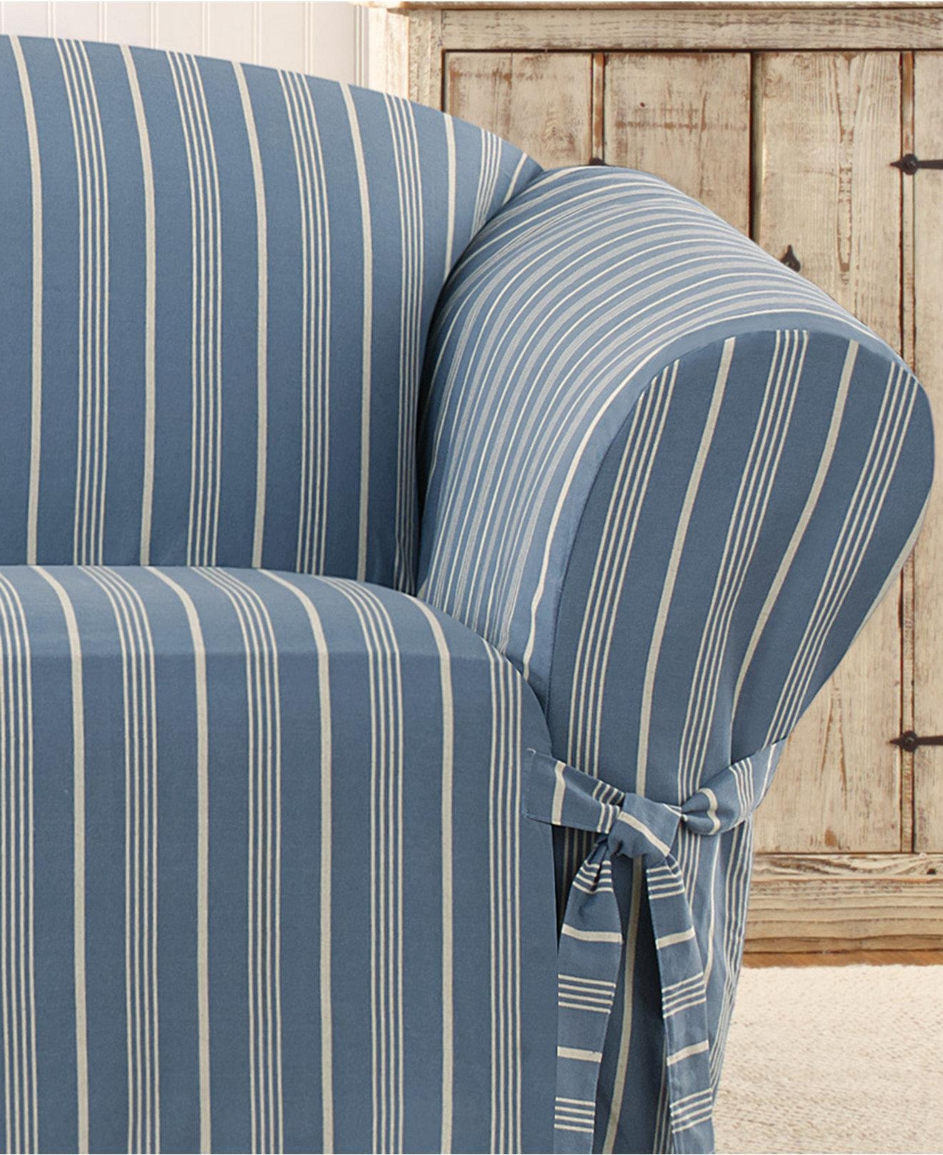 Blue And White Striped Chair Striped Sofa Covers Striped Sofa Slipcovers Blackfridays
