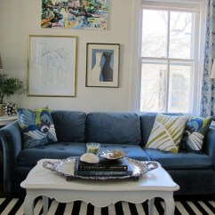 Blue Striped Sofa Uk Mission Style Sleeper 20 Top And White Sofas Ideas