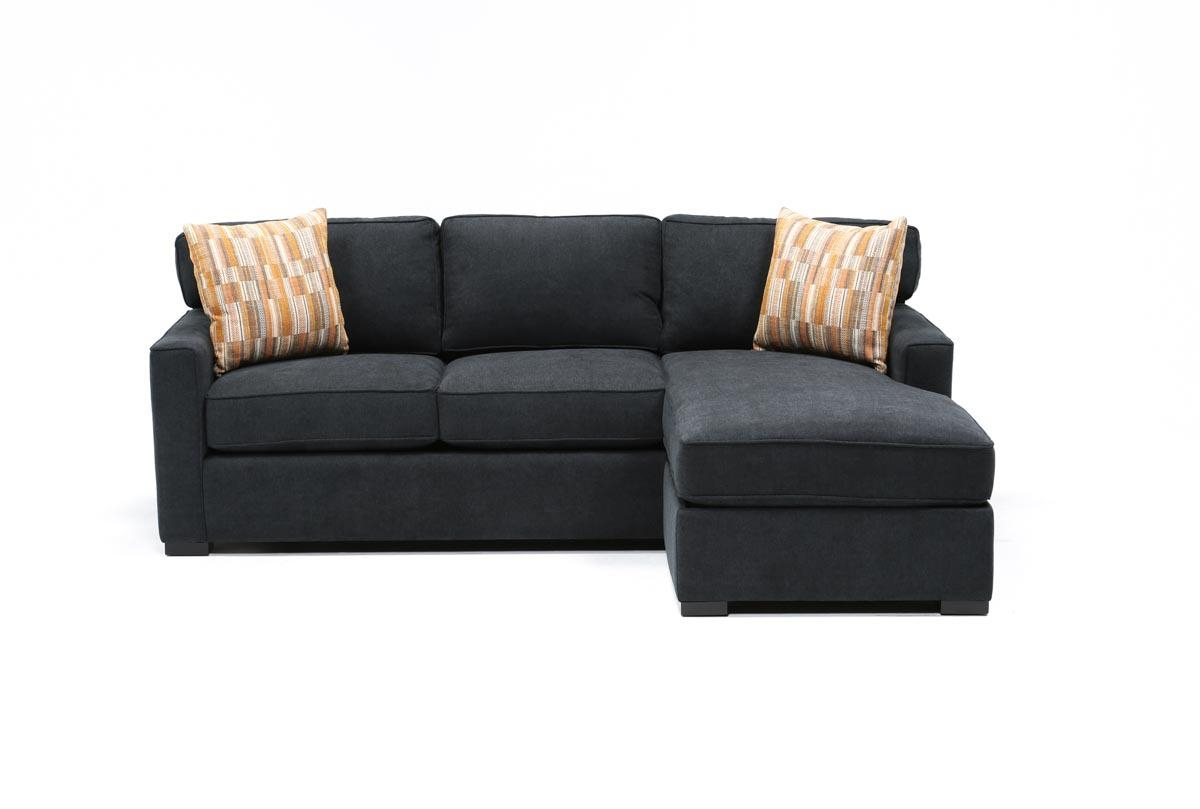 sofa w chaise vig furniture modern black leather circular sectional circle 20 best collection of with and ottoman