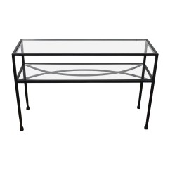 Black Mission Style Sofa Table Scs Storm Brown Pier One Used Home Office