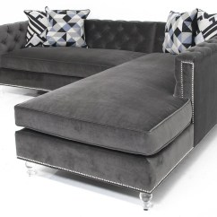 Velvet Sectional Sofa Bed Sale 20 Photos Tufted Chaise Ideas
