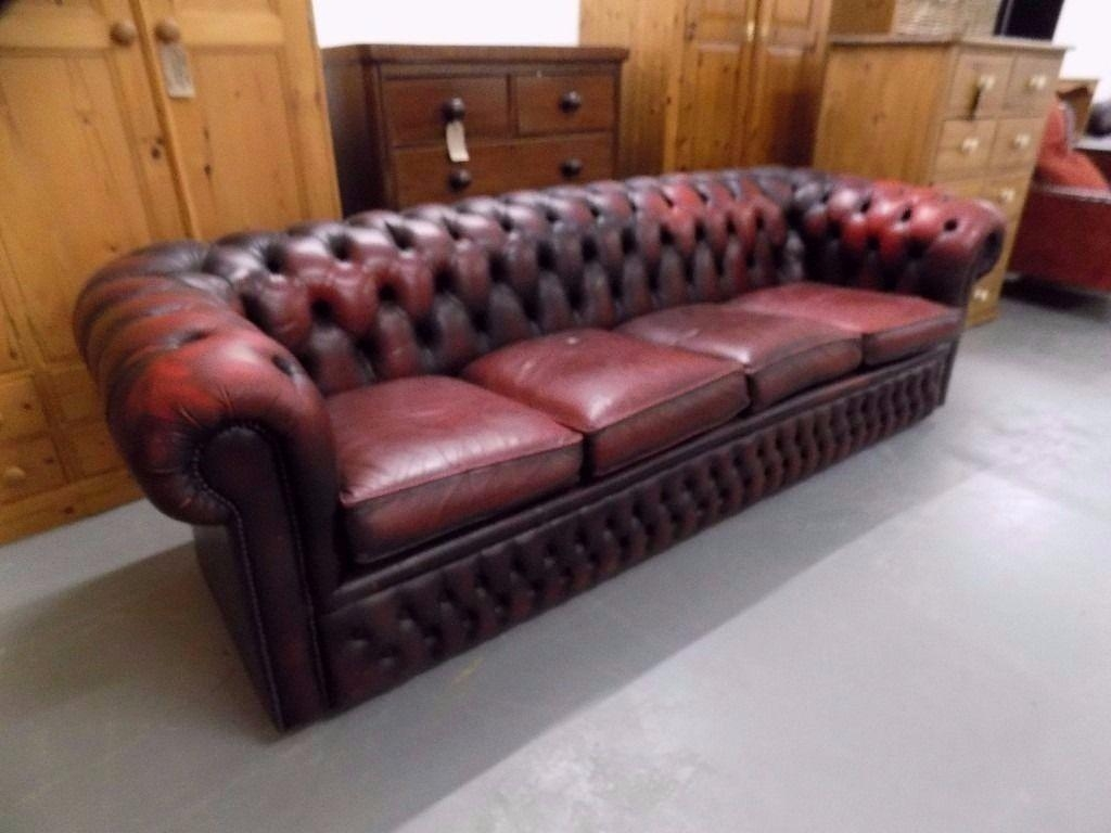 oxblood red chesterfield sofa vinegar cleaning leather 20 inspirations sofas ideas