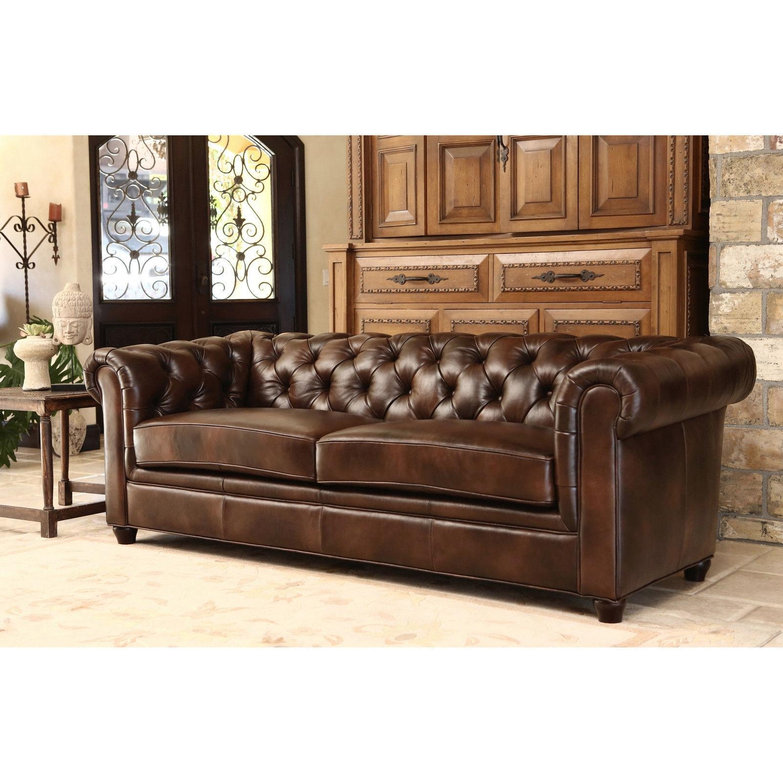 tufted brown leather sofa foam seat cushions for 2018 latest sofas ideas