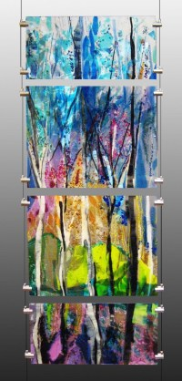 20 Inspirations Fused Glass Wall Art | Wall Art Ideas