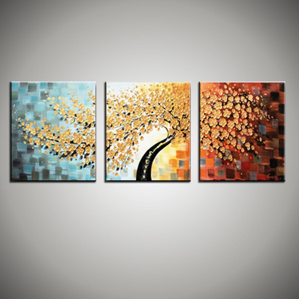 20 Best Ideas 3 Piece Floral Canvas Wall Art