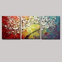 20 Best Ideas 3 Piece Floral Canvas Wall Art